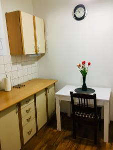 A kitchen or kitchenette at Apartament Stara Oliwa