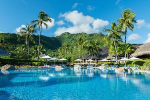 A piscina localizada em Hilton Moorea Lagoon Resort & Spa ou nos arredores