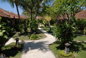 A garden outside Bali Reef Resort