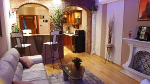 Posezení v ubytování Castle Premium Apartment