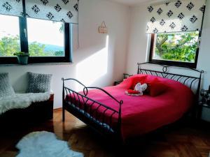 Postel nebo postele na pokoji v ubytování Kuća za odmor Topličica