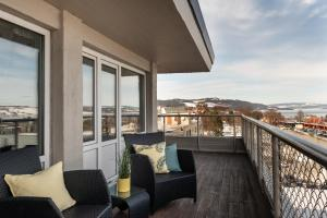 A balcony or terrace at Quality Hotel Strand Gjøvik