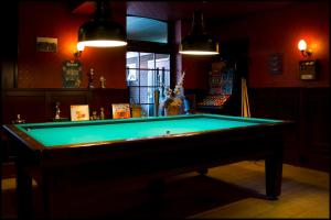 A billiards table at Hotel Duhoux