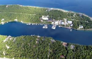 A bird's-eye view of Big Tub Harbour Resort