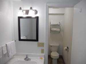 A bathroom at Knights Inn Harrisonville
