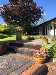 A garden outside Primrose Cottage Rooms