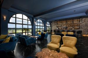 The lounge or bar area at The Royal Grand Hotel