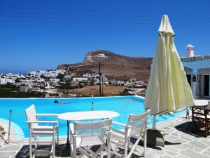 The swimming pool at or near Ampelos