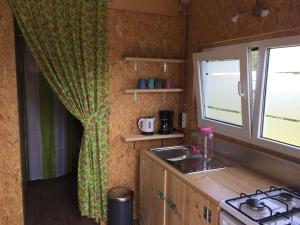 A kitchen or kitchenette at Mini-Camping Terhorst