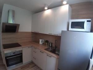 A kitchen or kitchenette at Apartamenty Katrin