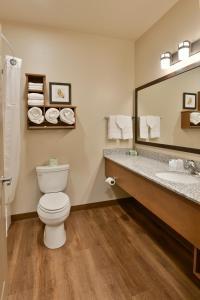 A bathroom at GrandStay Hotel & Suites