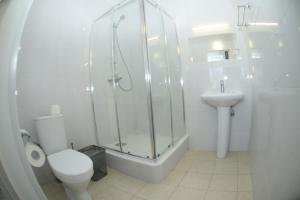 A bathroom at DeltaFly Hotel