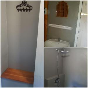 Ein Badezimmer in der Unterkunft Boszicht hutje
