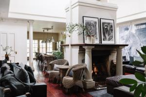 A seating area at The Manor House Daylesford