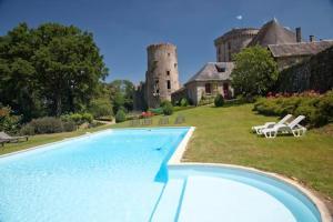 The swimming pool at or near Château de la Flocellière