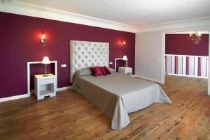 Cama o camas de una habitación en Casa Rural Palacete Magaña
