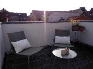 A balcony or terrace at Ferienwohnung Linsenstrasse 13
