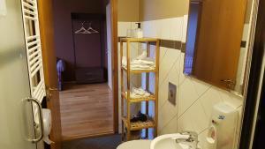 A bathroom at Hotel Latrabjarg
