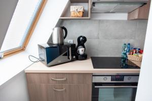 Kuchnia lub aneks kuchenny w obiekcie Tulip-Apartments - Jagiellońska 24 poddasze bez windy