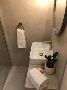 A bathroom at House Bava