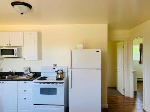 A kitchen or kitchenette at Fair Isle Motel