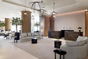 A seating area at Vida Emirates Hills