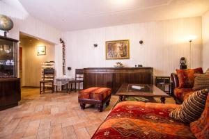 Ein Sitzbereich in der Unterkunft Landhaus Kaltenborn