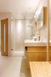 A bathroom at A-ROSA Sylt