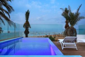 The swimming pool at or near Milos Hotel Dead Sea