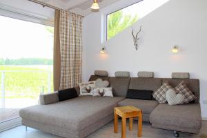 A seating area at Ana's Landhaus auch für Monteure