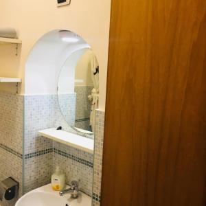 A bathroom at City Center studio
