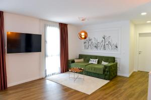 Кът за сядане в Boutique Apartments Blagoevgrad