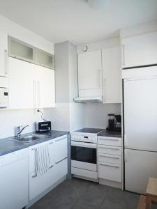 A kitchen or kitchenette at Studio Meri-Naantali