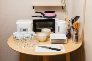 A kitchen or kitchenette at CPM Higashishinjuku/1 minute by walk