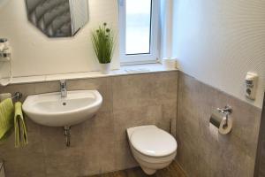 A bathroom at Gästehäuschen-Hösbach