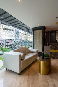 The lobby or reception area at Arthama Hotel Wahid Hasyim Jakarta
