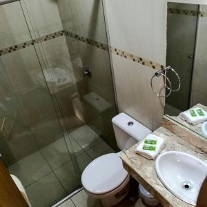 A bathroom at Hotel Solare