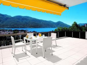 A balcony or terrace at Hotel Ascona