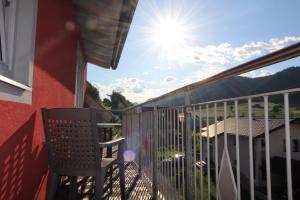 Balkón nebo terasa v ubytování Apartments Luidold