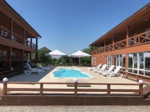 The swimming pool at or near Villa Antica