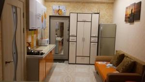 Кухня или мини-кухня в Apartment on Krymskaya 69
