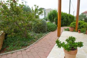 A garden outside Apartments Emma