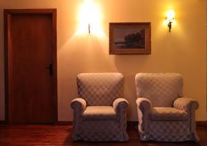 Uma área de estar em Alojamento Santa Clara