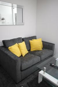A seating area at Halifax House, Studio Apartment 213