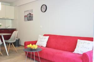 A seating area at Apartmani Žužić