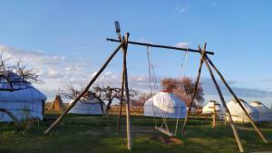 Children's play area at Jurten Camp Almaluu