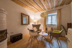 Ein Sitzbereich in der Unterkunft Ansitz Romani