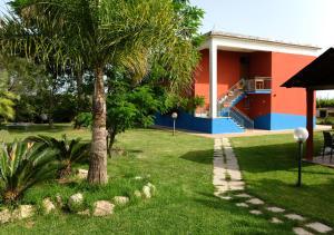 A garden outside Belvedere Monte Leano