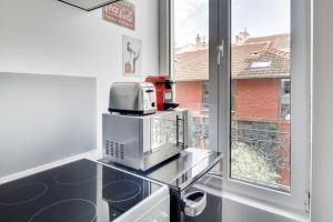 Cuisine ou kitchenette dans l'établissement Vintage Lodge - SDP