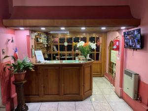 Лобби или стойка регистрации в Hotel Cordillera
